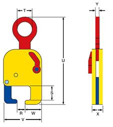 Tõstehaarats horisontaalne ERC raudtee relsi tõsteks