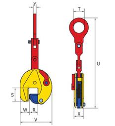 Tõstehaarats vertikaalne ESMP pikema varrega